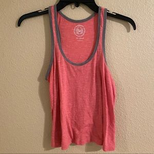 Coral Workout Athletic Tank Top